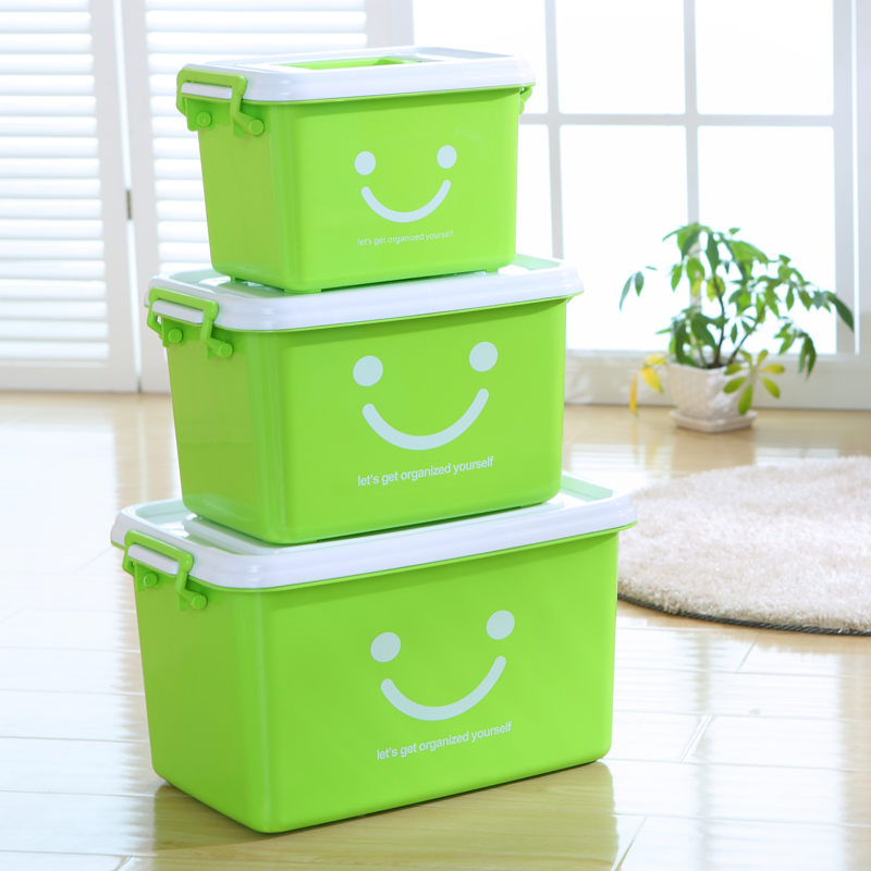 Thickening portable plastic storage boxes of clothing order box toy storage box large kitchen trumpet storage boxes of material crate box underwear matter