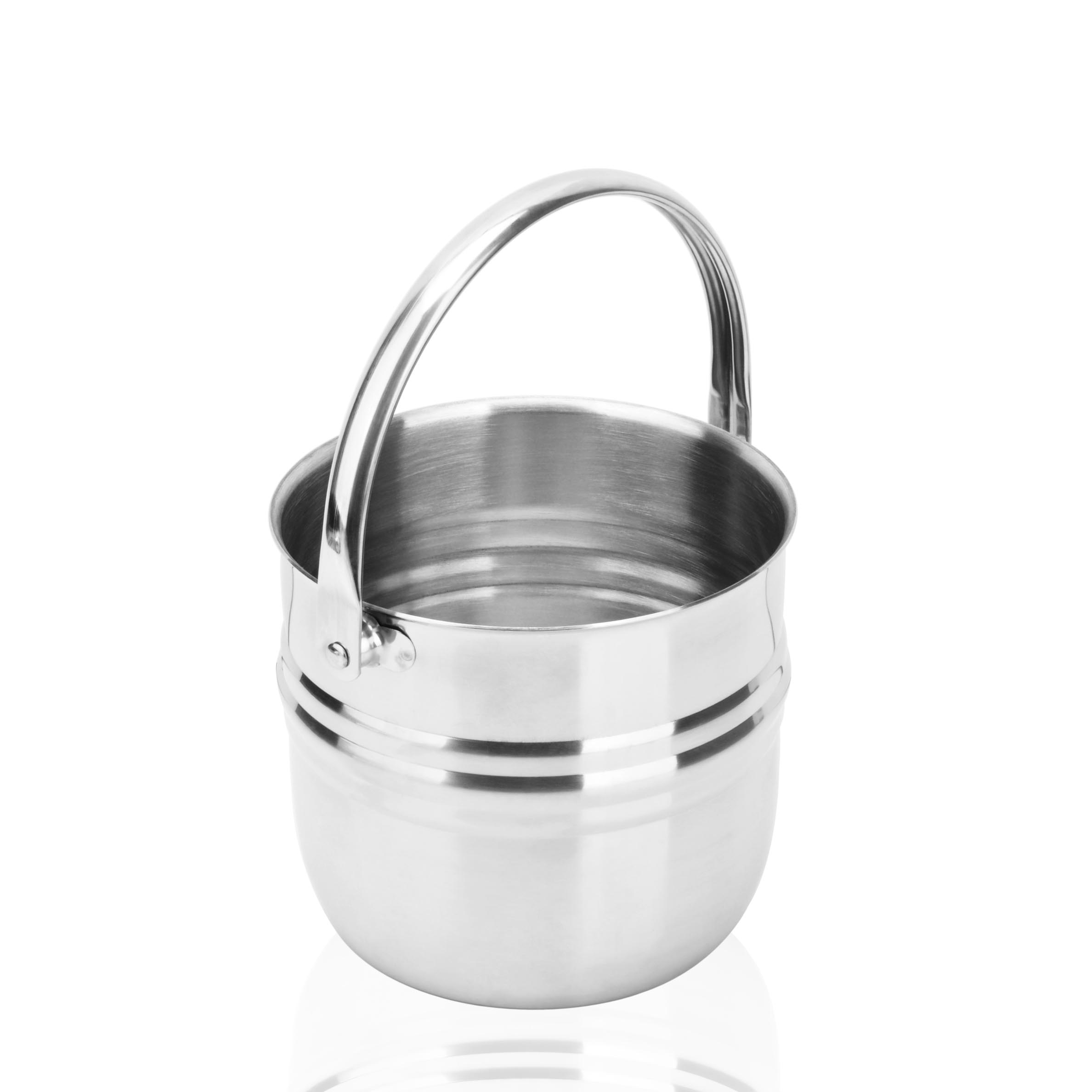 Thicker section 304 stainless steel cocktail wine ice bucket ice bucket bar champagne bucket portable ice bucket stainless steel ice bucket ice bucket