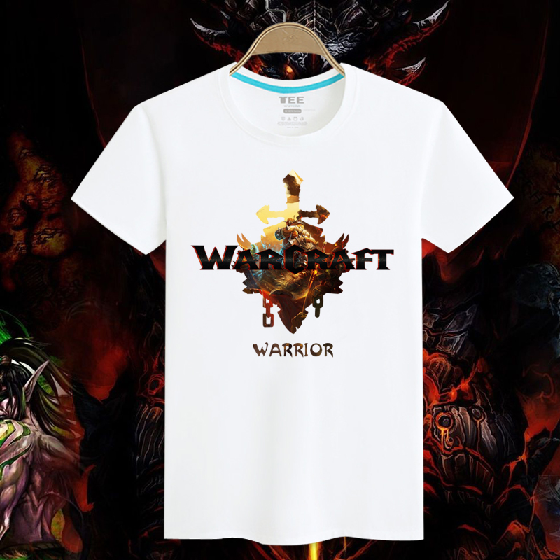 This collar career cotton nostalgic tribal alliance wow world of warcraft warcraft warrior movie t-shirt