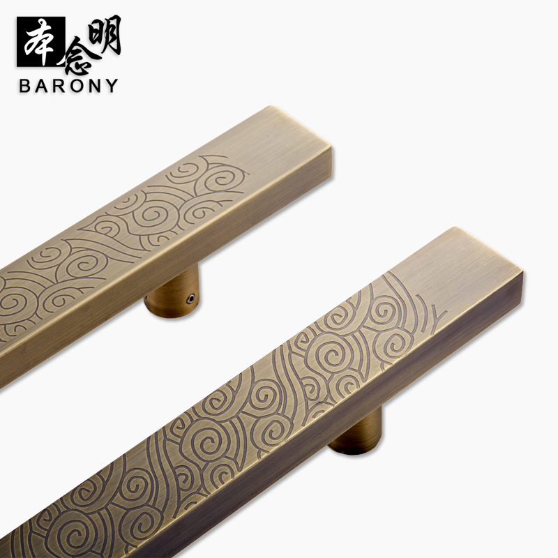This idea ming wooden doors sliding door handle antique glass door handle retro szema clouds door handle doorknob chinese