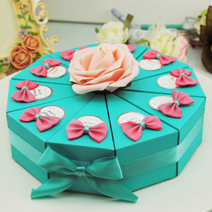 Thousands of fate love wedding cake candy box creative candy box large trumpet wedding candy box candy box wedding supplies