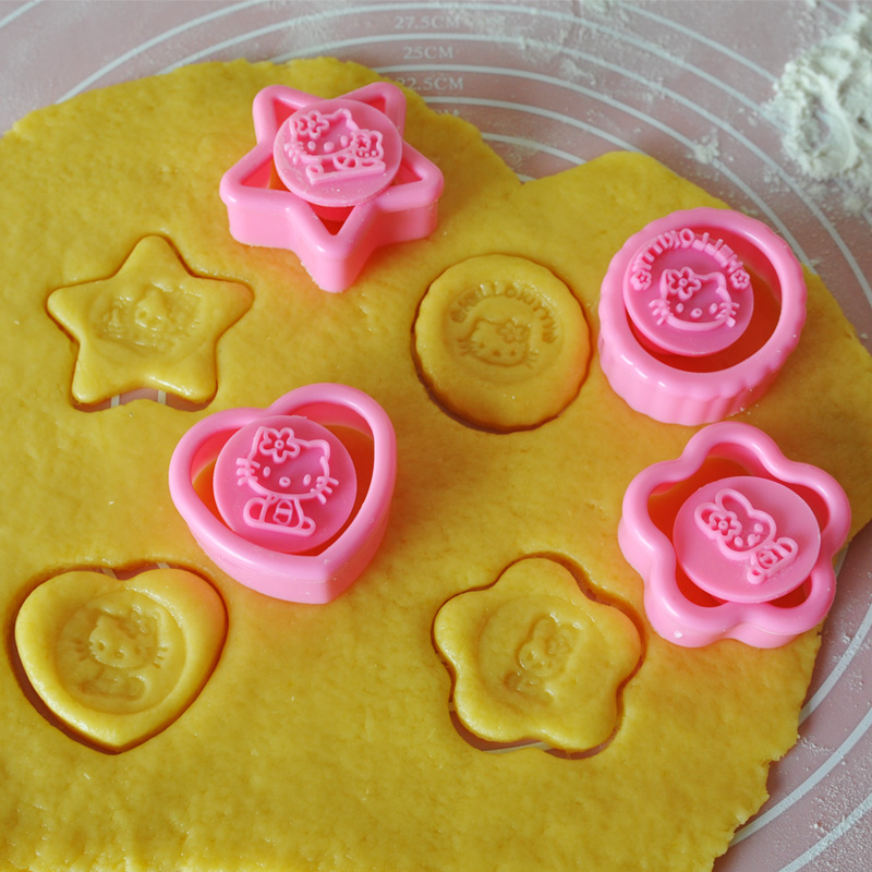 Thousands of groups seiko bakeware kitten pattern flowers in the shape of three-dimensional cartoon biscuit cookie mold bread mold