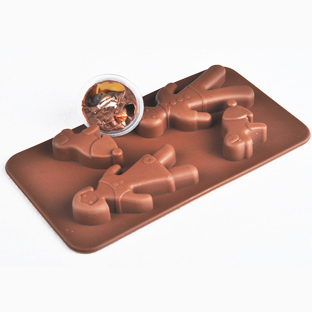 Thousands of groups seiko bakeware mold chocolate mold silicone chocolate mold people and dogs