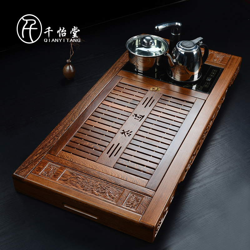 Thousands yi tang wheelbase four cooker tea tray tea sea wenge wood mahogany acid branch pear tea tea sea