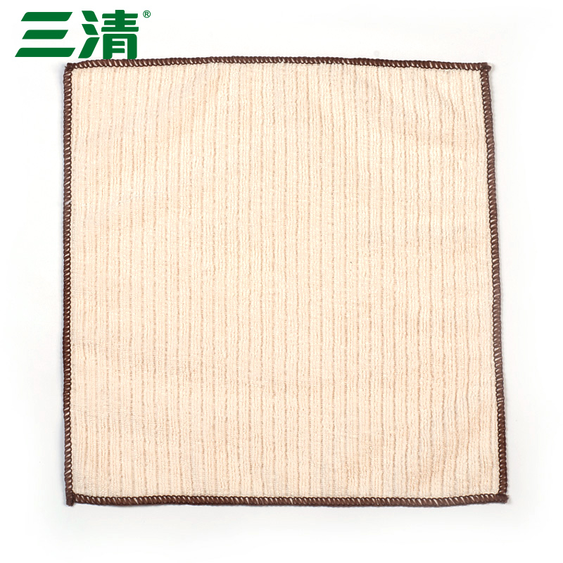 Three clear plush qinfu microfiber dish towel lint thick kitchen dishcloth not contaminated with oil absorbing water