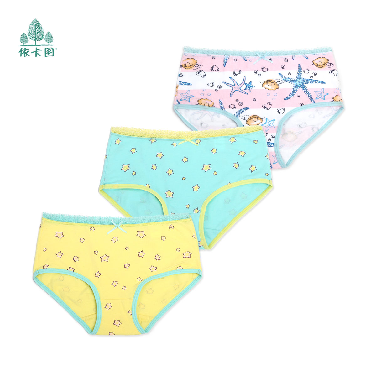[Three] installed summer zhongshan university tong xuesheng girls underwear triangle cotton underwear children's cotton underwear
