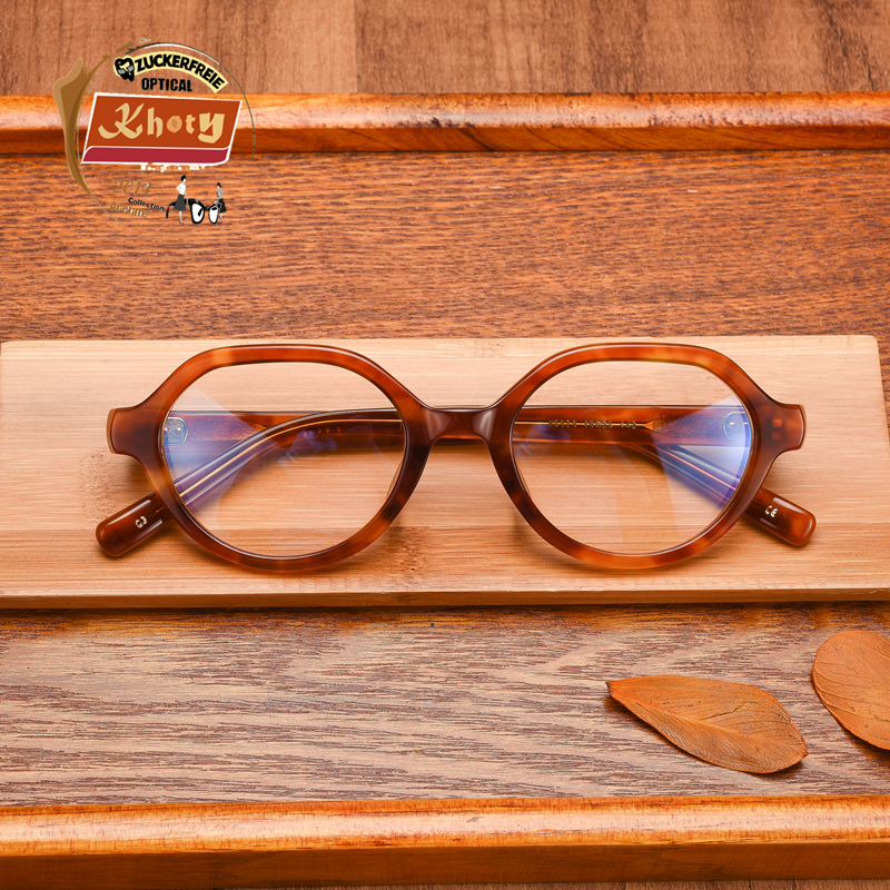 ee06d75cdf Get Quotations · Tide models khoty authentic japanese retro small round blue  glassframe literary personality star eyewear frames for