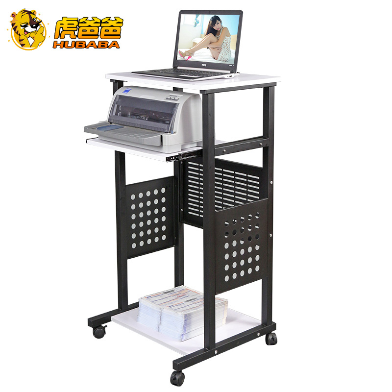 Tiger dad minimalist desktop proposed by the standing computer desk computer desk mobile laptop desk simple projector table