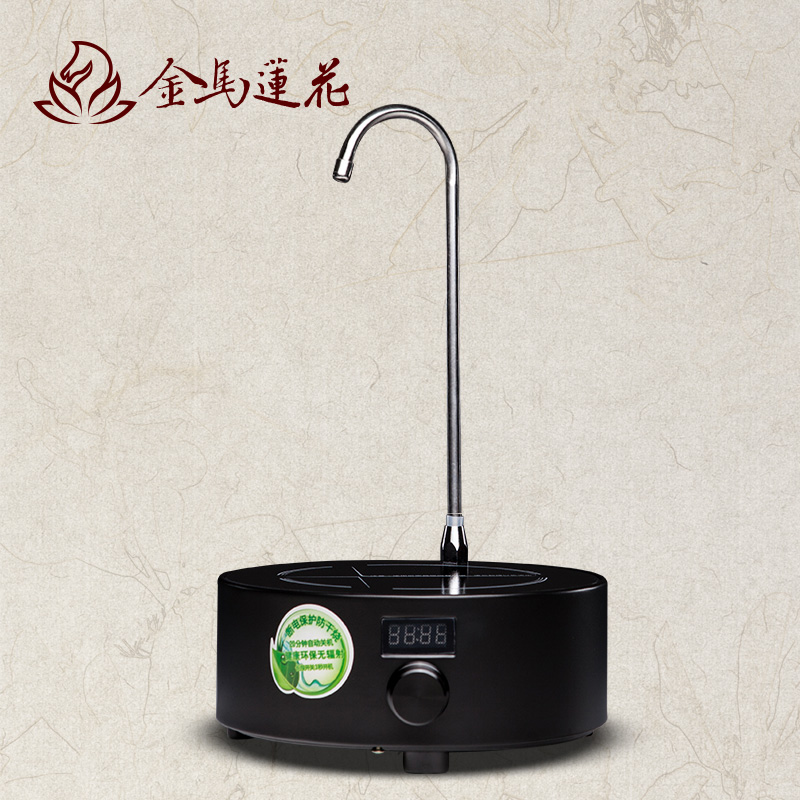 Tiger hall squat circular electric ceramic stove gold and silver sheung shui special furnace iron tea kettle electric tea kettle electric stove stove free Radiation