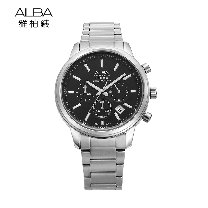 Time gallery alba yabo business waterproof watch men's stainless steel quartz watch japan AT3265X1