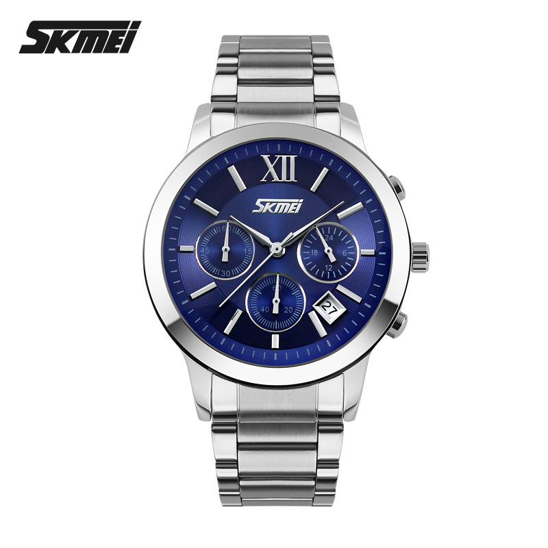 Time us men's watches fashion business six needle quartz watch steel waterproof watch male table minimalist temperament
