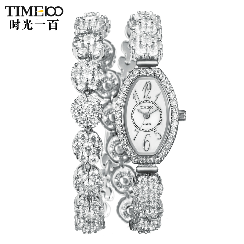 Time100/time one hundred flash diamond ladies watches fashion watch female form bracelet watch fashion watch quartz watch