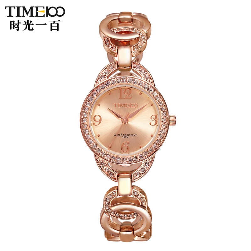 Time100/time one hundred ladies watches fashion simple flash diamond bracelet quartz female table ladies watches