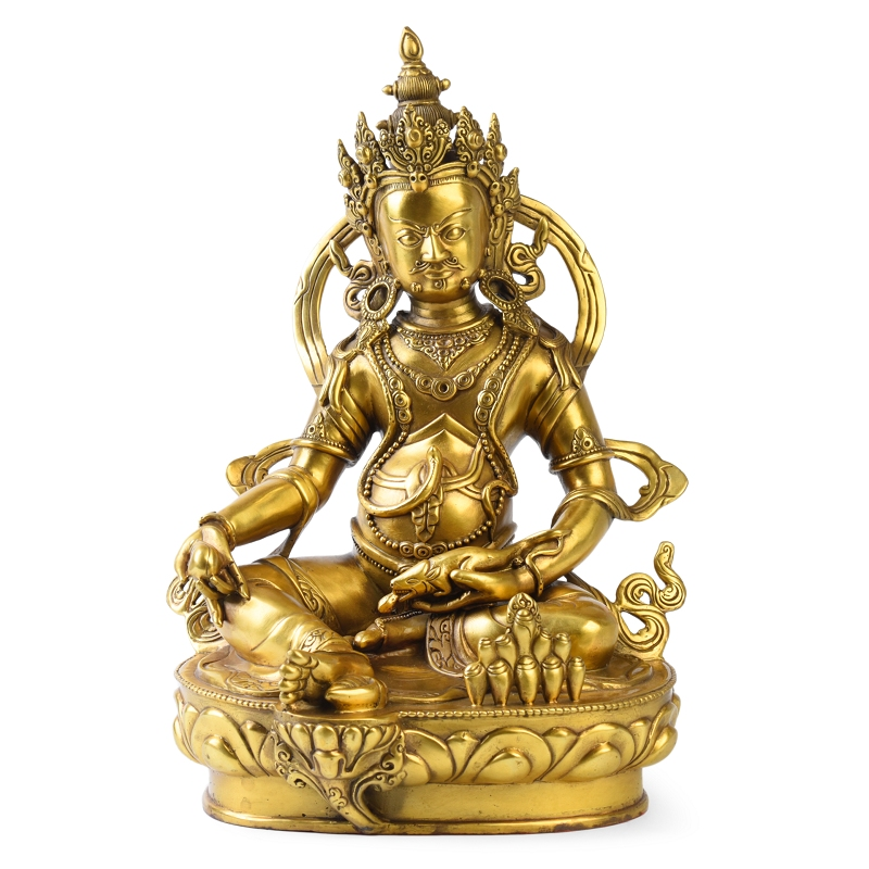 Times talented copper dzambala tibetan buddhist tantric buddha statues crafts home decor living room temple worship