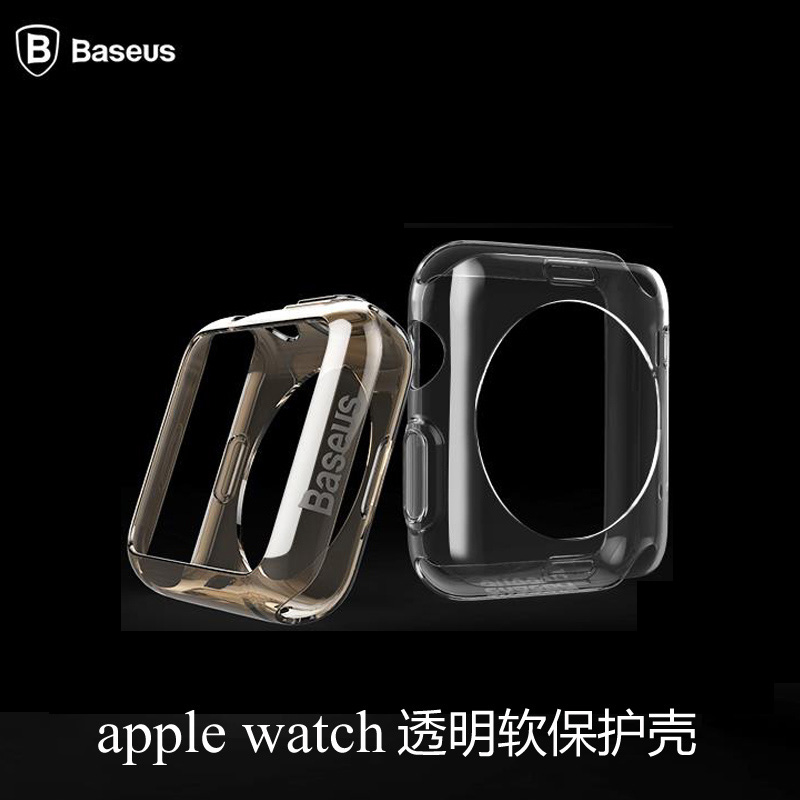 Times thinking apple smart watch iwatch transparent silicone protective cover tpu soft shell apple watch movement 42