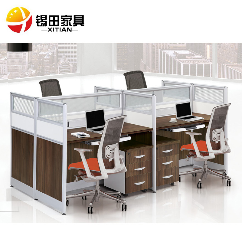 Tin tin office furniture office desk work desk wall panels stylish office furniture minimalist combination of four bits