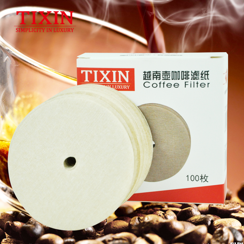 Tixin/ladder letter viet nam viet nam pot special wood fiber filter coffee maker filter paper 100 thick