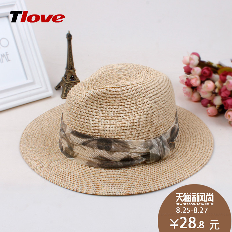5b4607f9 Get Quotations · Tlove hat panama hat visor korean version of the british  summer hats for men and women