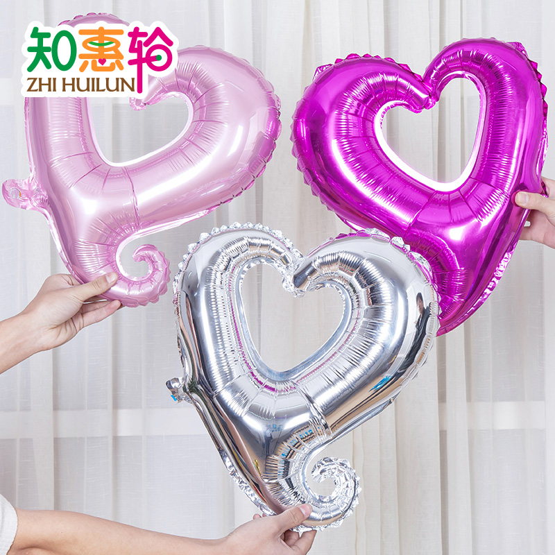 To know the benefits of round aluminum balloons wedding birthday celebration arranged marriage room decoration love hearts valentine's day gogo heart balloon