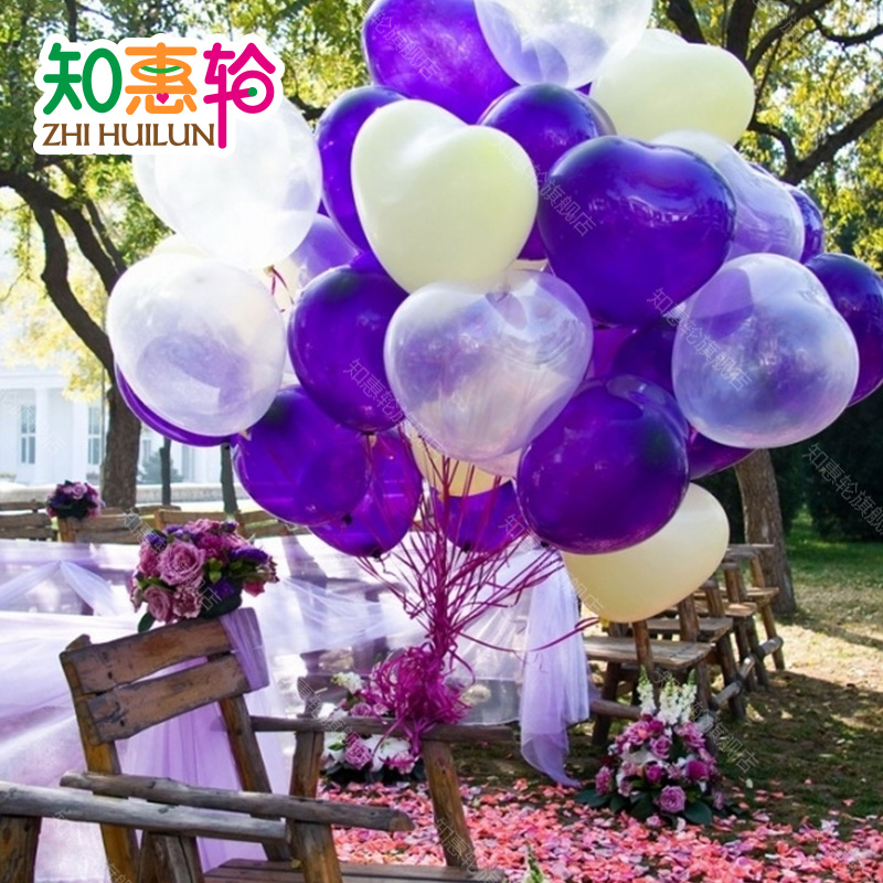 To know the benefits of round married marry heart love creative wedding supplies balloon modeling balloons marriage room layout