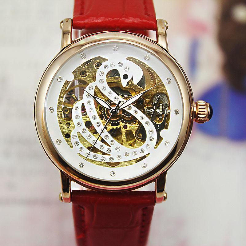 To send a couple of elderly men and elderly ladies automatic mechanical watches ladies fashion watch students watch female form