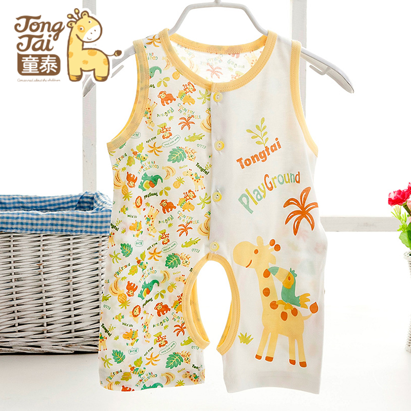 Tong thai baby coveralls summer summer clothes newborn baby short sleeve leotard romper climbing clothes infant pajamas q