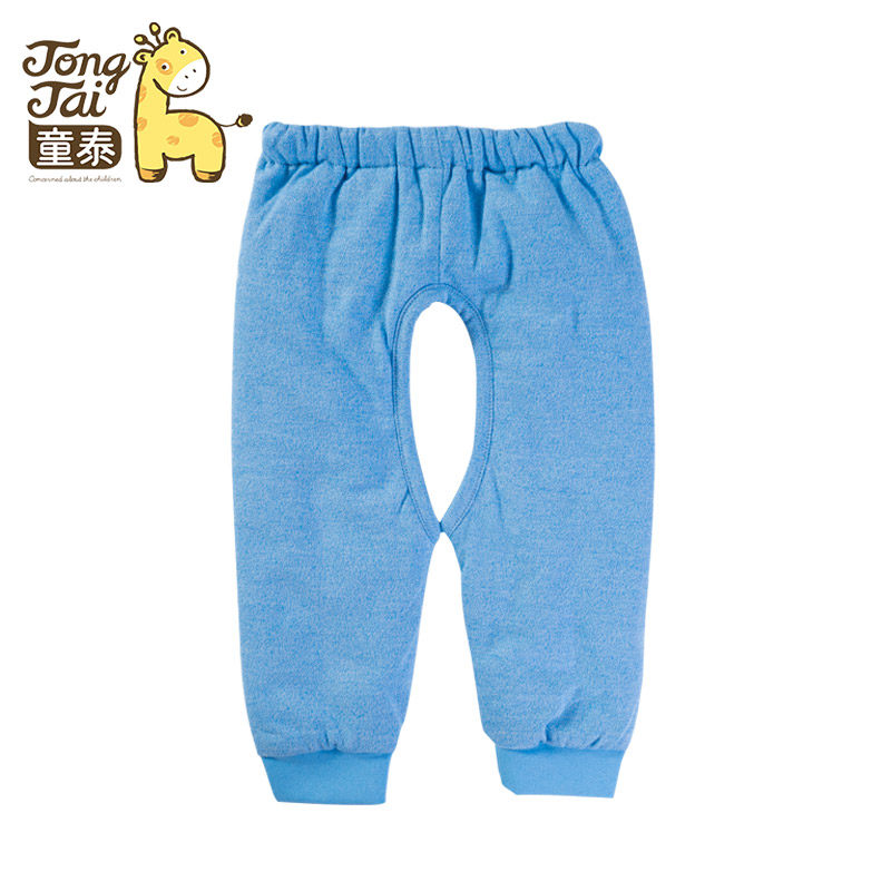Tong thai baby warm pants for men and women fall and winter new boy pants children pants baby pants baby qiuku thick single loaded