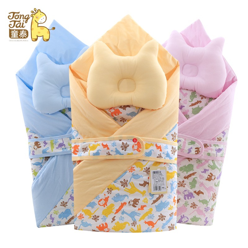 Tong thai newborn baby was holding the baby supplies coated spring full cotton baby blankets infant sleeping bag cloth bag