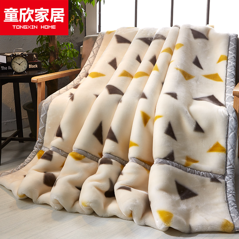Tongxin home raschel blanket double thick blanket of winter coral fleece blanket single double wedding winter