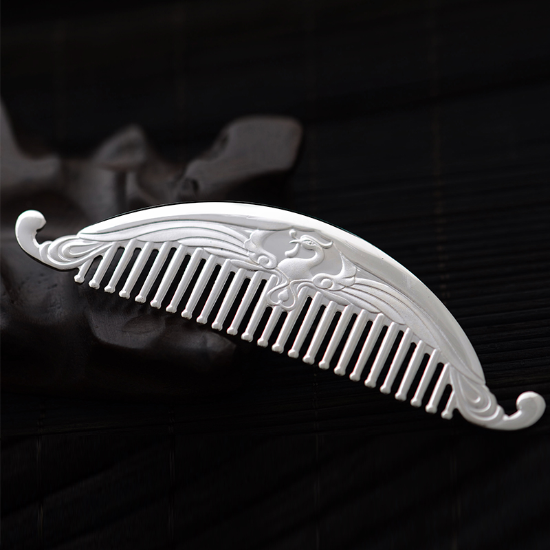 Tony laugh love girlfriends female s999 fine silver silver silver comb hair ornaments handmade ornaments ram gifts