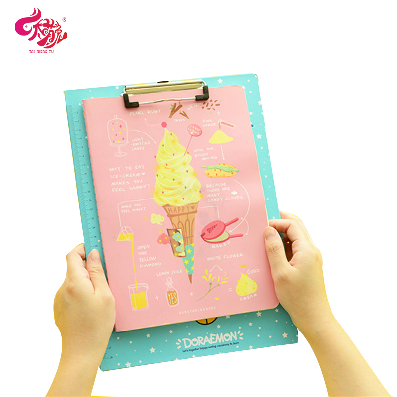 Too adorable rabbit korean fashion cute cat doraemon wordpad plywood with a scale ruler pupils write the word board paper