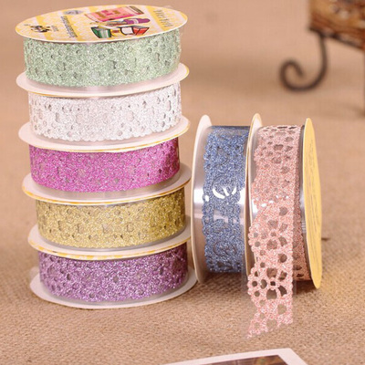 Tool accessories handmade lace tape diy album essential powder glitter personality lace decorative tape