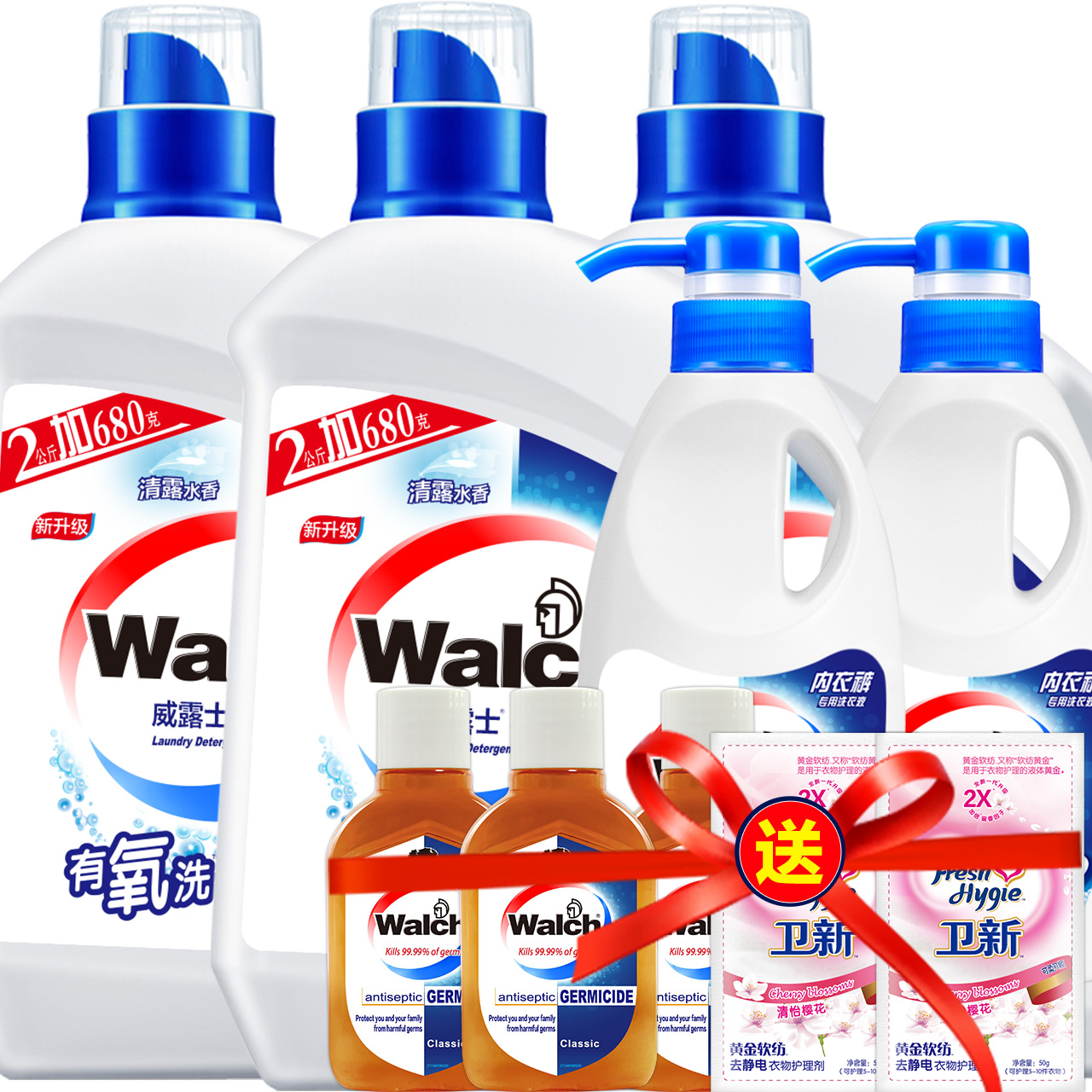 Top 3000 walch aerobic wash laundry detergent liquid detergent 49 yuan 17 of 1 a year the amount of consumers venom smooth and mellow Agent