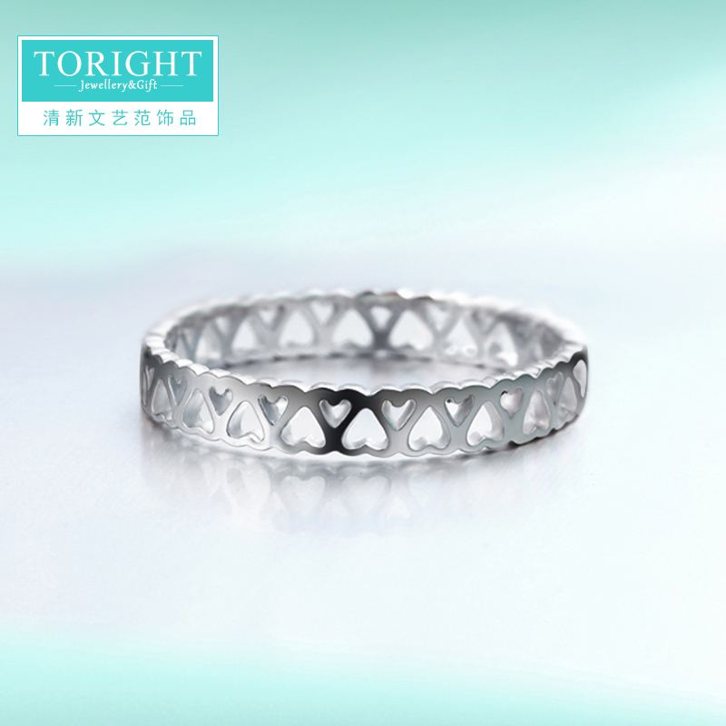 Toright female little finger tail ring silver ring joint ring couple ring finger ring korean fashion 925 silver jewelry
