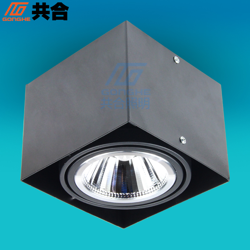 Totaling cob surface mounted grille lamp w square single head grille light led ceiling spotlights adjustable angle