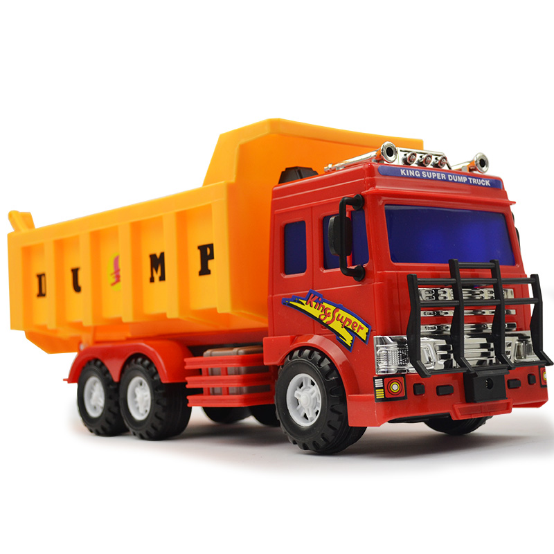 Toy car inertia force lee engineering force booster backhoe excavator mixer truck truck street maintenance vehicles