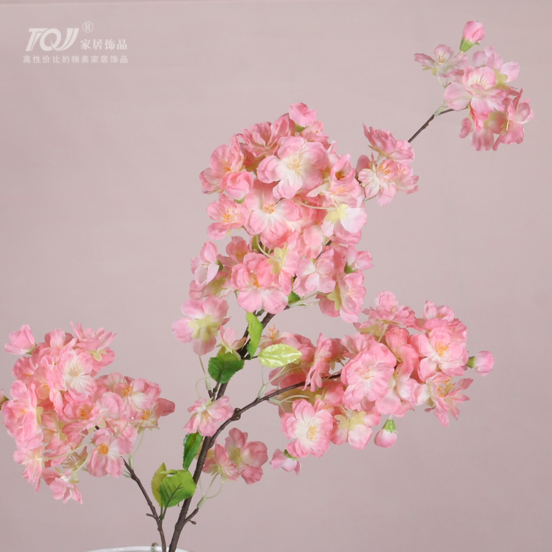 Tqj european artificial flowers artificial flowers living room bedroom dining room furnishings decorative artificial flowers artificial flowers silk flower cherry flowers