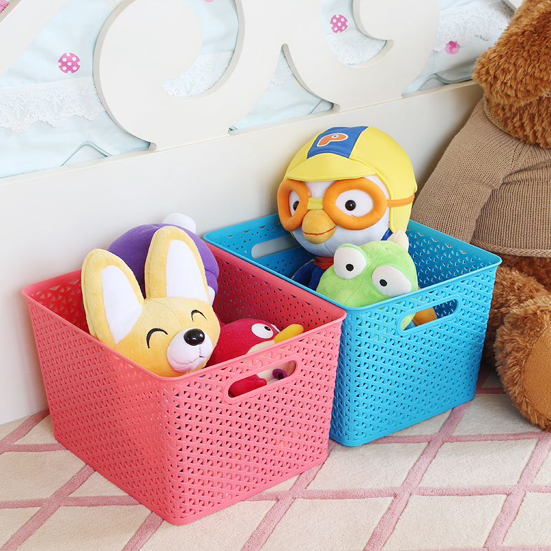 Traders beautiful creative and colorful storage box storage box finishing box plastic storage baskets rattan laundry basket