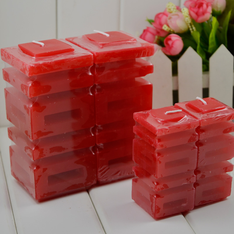 Traditional chinese favor gift wedding decorations hi to music candles candle red double happiness character 1 2