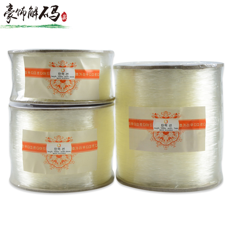 Transparent crystal line imported crystal elastic wire line beaded wire rope wear hand made hand beaded elastic rope line string line