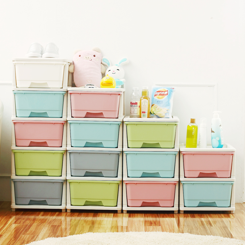Transparent drawer storage cabinets bedroom bedside cabinet bathroom cabinet lockers storage cabinets plastic children caught