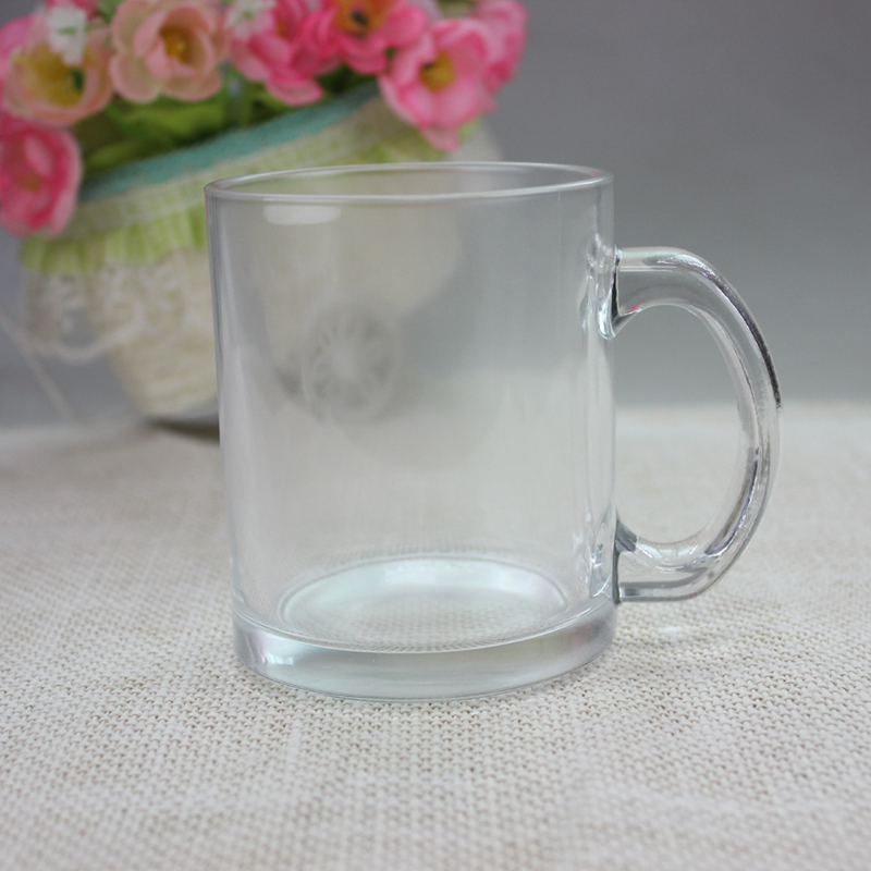 Transparent glass cup thermal transfer color cup white cup mug cup diy coating image cup
