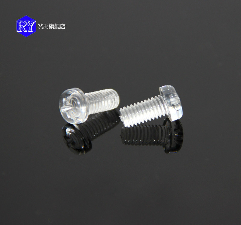 Transparent polycarbonate screw screws plastic screw transparent transparent circular machine screws round head phillips screws m6 series