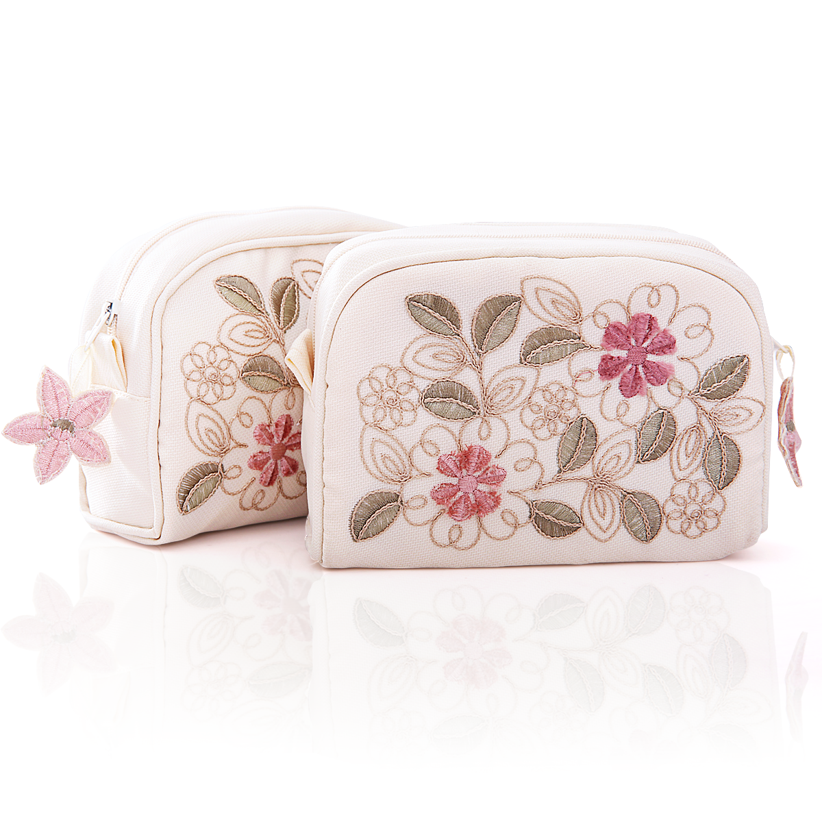 Travel wash bag cosmetic bag embroidery embroidery ms. korea cute small portable cosmetic storage bag handbag