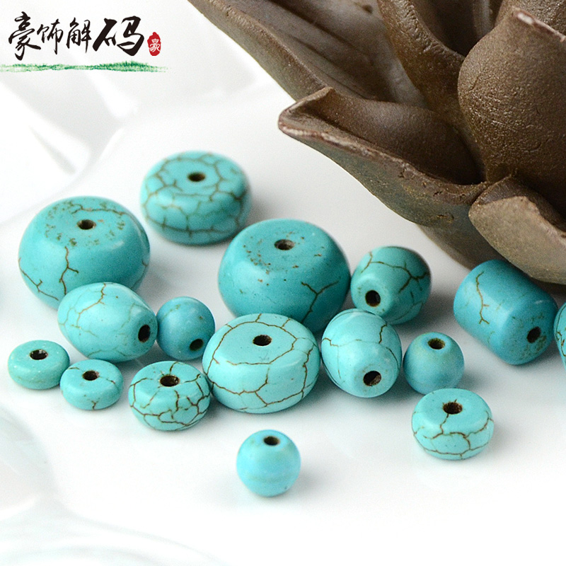 Tree ornaments decoding optimization turquoise loose beads disc bead bracelets bead spacer beads waist beads top barrel beads diy jewelry accessories