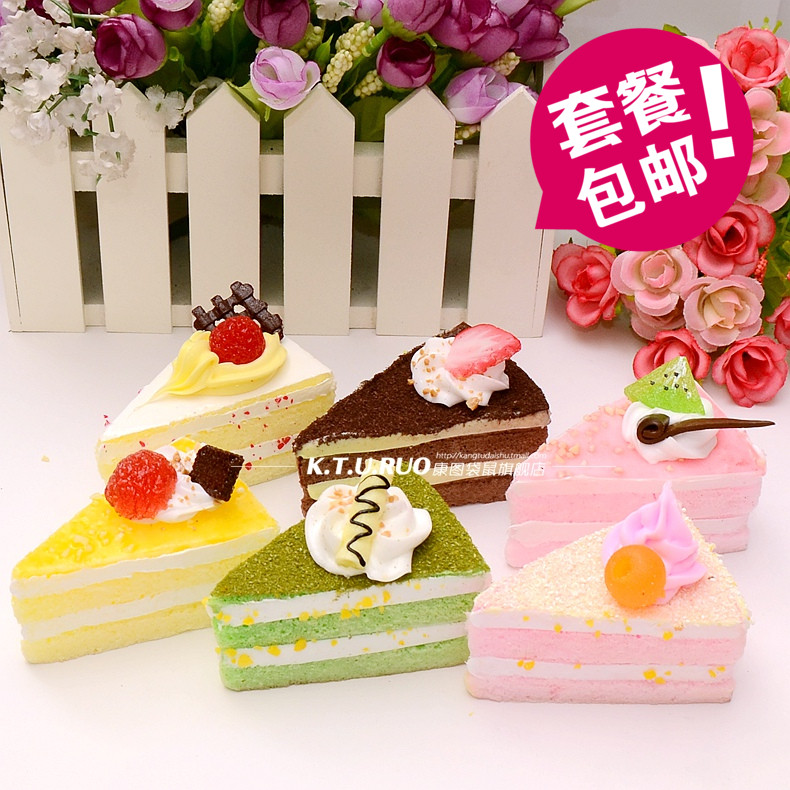 Triangle cake food cake simulation model wedding wedding decoration window display props shooting early childhood toys