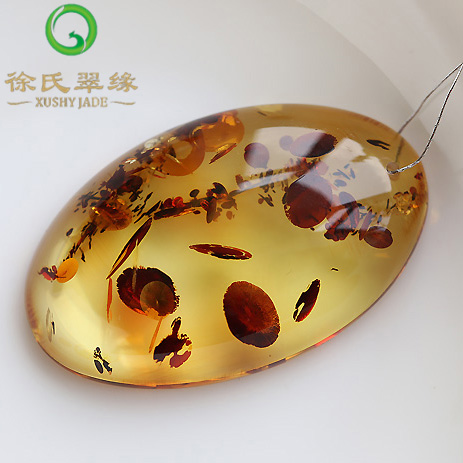 Tsui tsui edge natural amber jewelry amber poland poland amber amber flower pendant pendant with a certificate