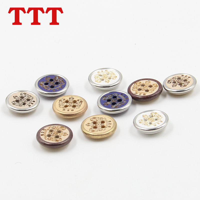 Ttt wood edging buckle two shirt buttons buttoned cardigan buttons painted wooden buttons diy handmade wooden buckle