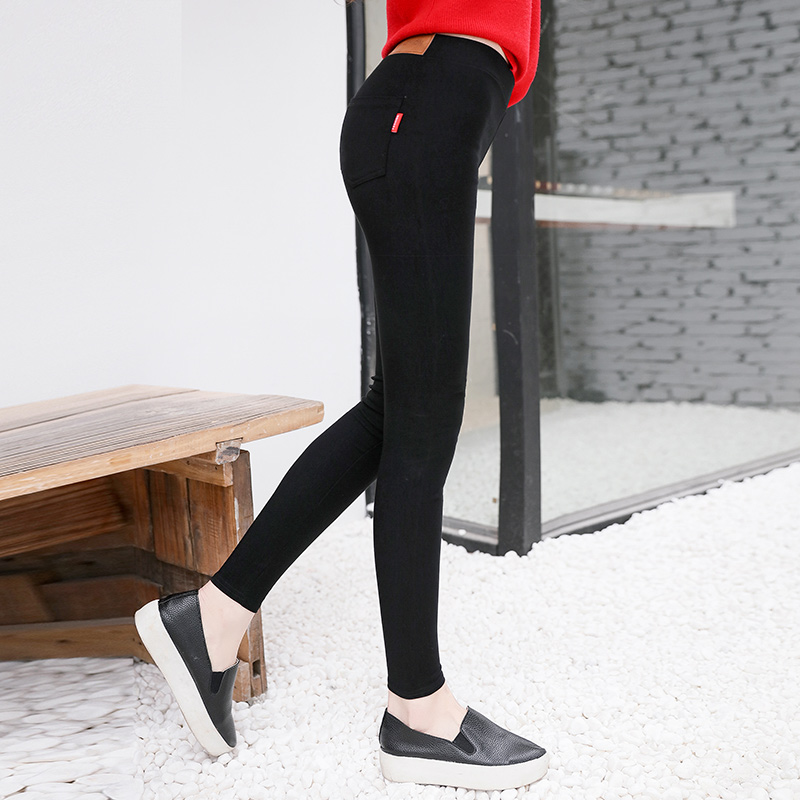 [Two loaded] autumn thin section leggings significantly thin stretch pants waist pencil pants outer wear pantyhose Pants female summer