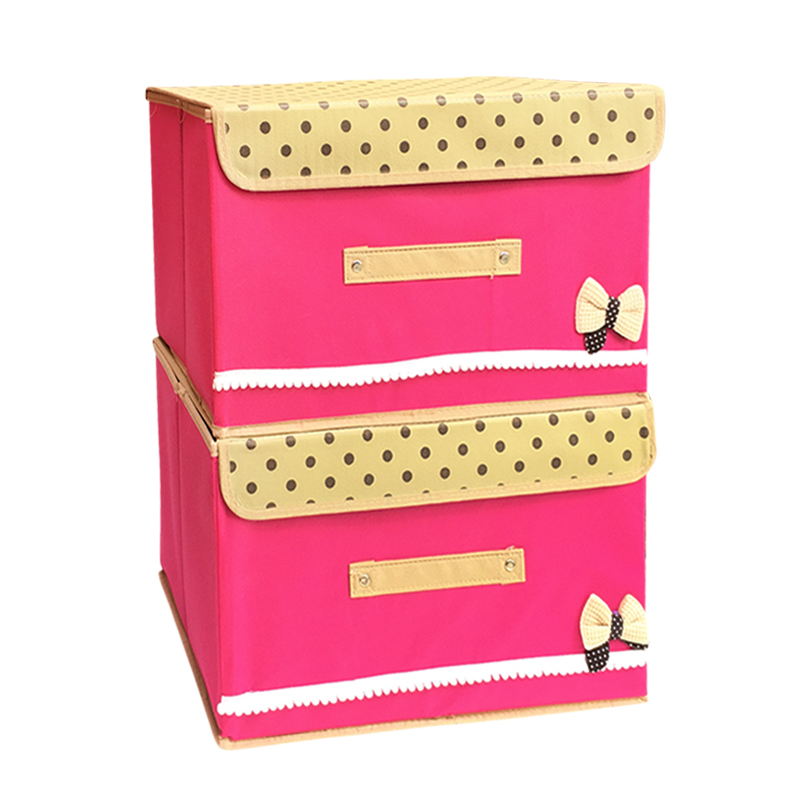 Two sets of clothes toy storage box large covered storage box underwear sorting box cosmetic storage box storage bags post
